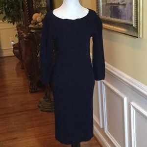 Lauren Ralph Lauren Navy Sweater Dress, M
